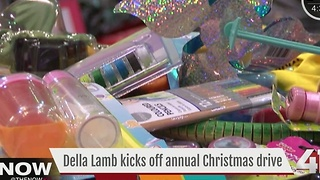 Della Lamb kicks off annual Christmas drive - Video