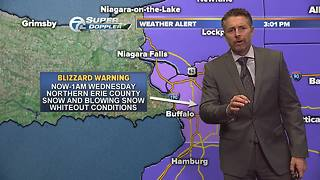 Update on Blizzard warning for Northern Erie County - Video