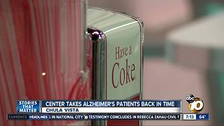 Center takes Alzheimer's patients back in time - Video