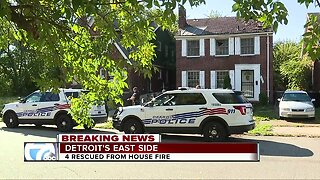 4 rescued from house fire on Detroit's east side