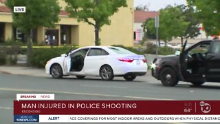 Escondido police: Man with crowbar shot by officer