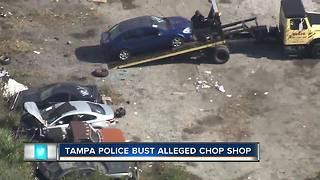 Chop shop in Tampa shut down after 85 vehicles were found on property - Video