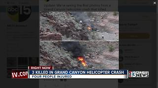 3 killed in helicopter crash near Grand Canyon - Video