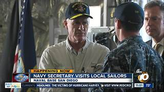 Navy secretary visits local sailors