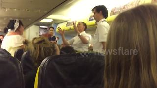 Group of women kicked out of Ryanair flight from Liverpool to Alicante - Video