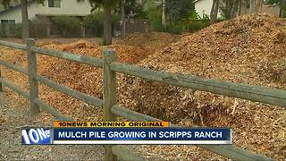 Mulch pile continues to grow in Scripps Ranch
