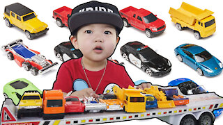 Adventure Force Vehicles Video For Children l Garbage Truck Sports Race Cars