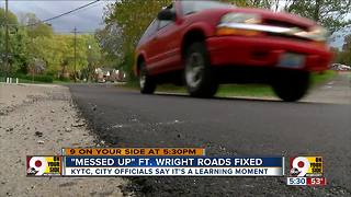 Messed-up roads in Fort Wright finally fixed - Video