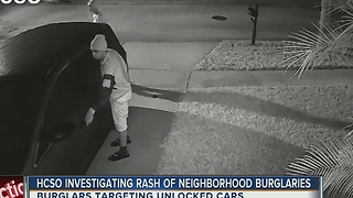 HCSO investigating rash of neighborhood burglaries