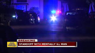 Standoff underway with mentally ill man in Tampa, nearby residents asked to stay indoors - Video