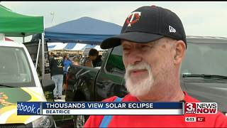 Eclipse 2017: Cheers, celebrations in Beatrice - Video