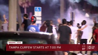 Mayor Castor issues curfew for the City of Tampa