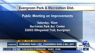 Evergreen Park and Recreation considering bond and mill levy - Video