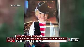 Search continues for missing 3-year-old