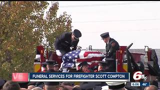 Hundreds gather for funeral services for fallen firefighter Scott Compton - Video