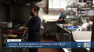 Local restaurants hoping for help from Congress