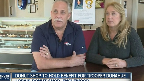 Donut shop to hold benefit for Trooper Donahue