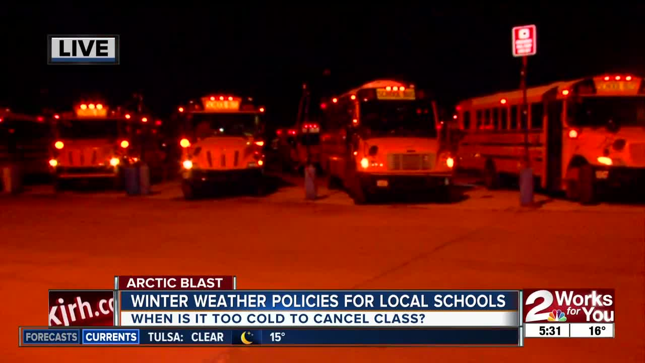 Winter weather policies with school districts