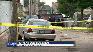 12-year-old boy shot on Milwaukee's south side - Video