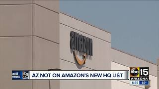 Arizona not included on Amazon's new headquarters list - Video