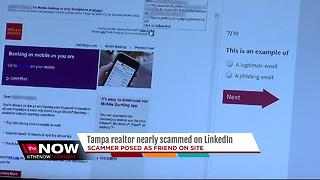 Scammer targets local realtor in LinkedIn scam - Video