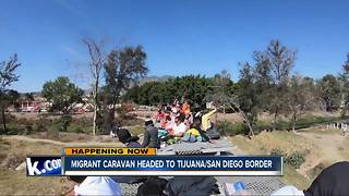 Migrant caravan risking lives to head to US-Mexico border - Video