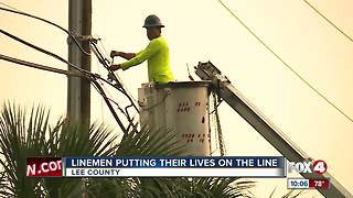 LInemen putting their lives on the line