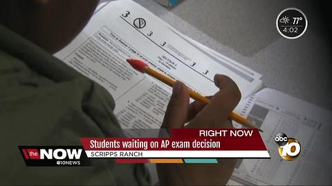 Scripps Ranch students waiting on AP exam decision