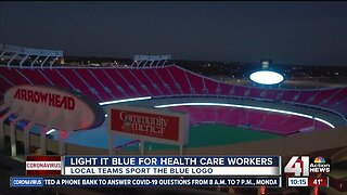 Kansas City's pro teams #LightItBlue in support of frontline COVID-19 workers
