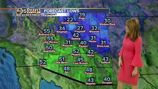 Cold front moving into the Valley - Video