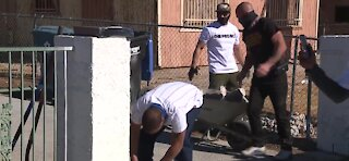 Las Vegas community helps beautify the block
