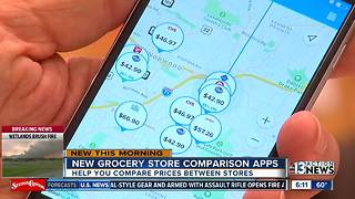 New grocery store comparison apps - Video