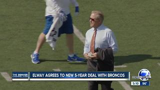 John Elway agrees to new 5-year deal to run Denver Broncos through 2021 - Video