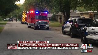 PD: Raytown boy, 12, stabbed by family member - Video