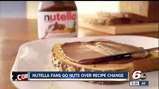 Nutella fans angry over recipe change - Video