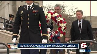 Veterans Day celebrated in downtown Indianapolis parade - Video