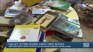 Valley store giving away free books