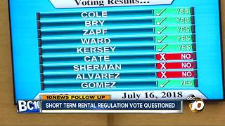 Short-term rental regulation vote questioned - Video