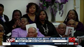 Funeral Service for Betty Jean Hollins - Video