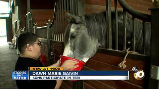 Horse therapy helps kids with special needs