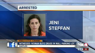 Woman buys drugs in mall parking lot, later arrested during traffic stop - Video