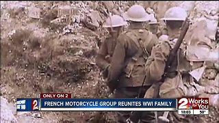 French motorcycle group reunites WWI family