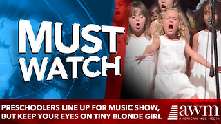 Preschoolers Line Up For Music Show, But Keep Your Eyes On Tiny Blonde Girl In The Middle - Video