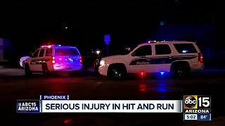 Pedestrian seriously hurt in Phoenix hit-and-run - Video