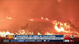 Wildfires continue to urn across the state