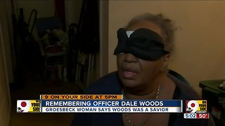 Colerain Officer Dale Woods helped save a blind woman from a fire