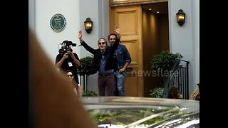 Paul McCartney leaves Abbey Road Studios after secret concert for fans and celebrities