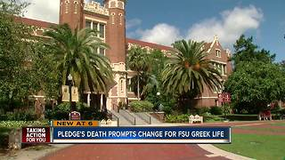 Florida State University announces reforms for Greek community after student death - Video