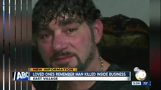 Loved ones remember man killed in business
