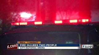 2 people injured during a kitchen fire at City National Arena
